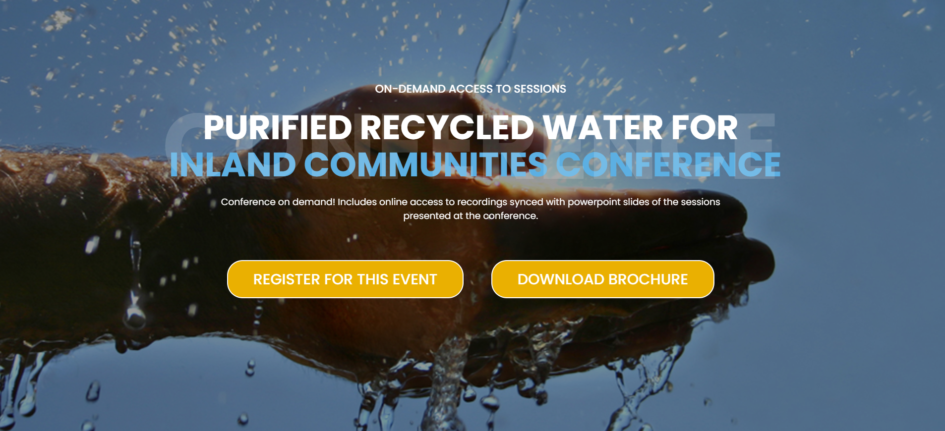 Clean TeQ Water Presenting at IBRC's Purified Recycled Water Conference