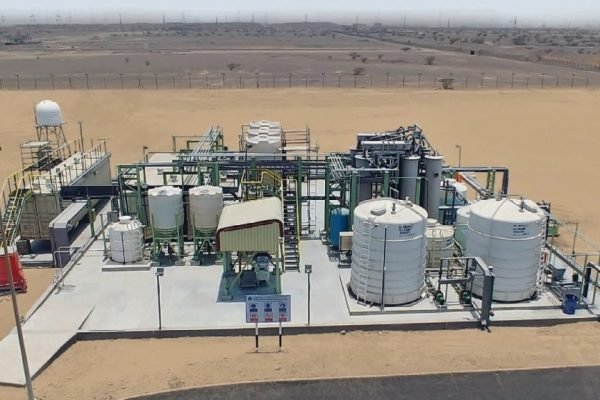 Clean TeQ Water's proprietary DESALX® (two-stage CIF®) technology plant in Oman